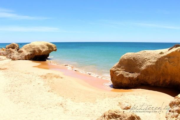 Beach Bar an der Algarve, Portugal