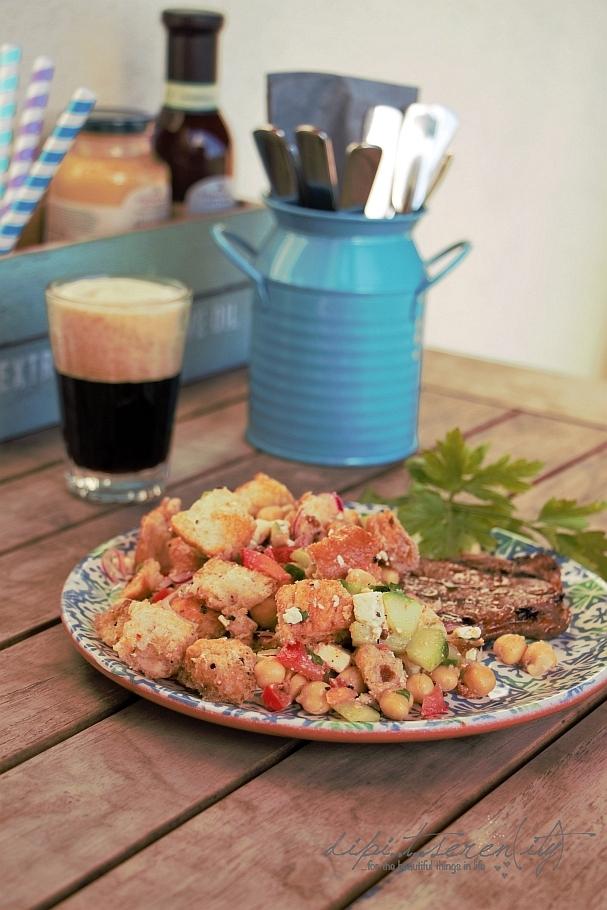 Indischer Kichererbsen-Salat