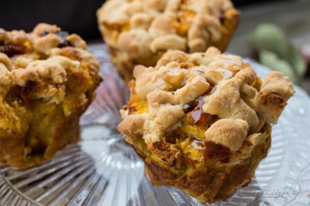 Pumkin French Toast Muffins mit Zimt Streusel