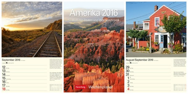 Amerika 2016 Wandkalender zum Bloggeburtstag dipitserenity