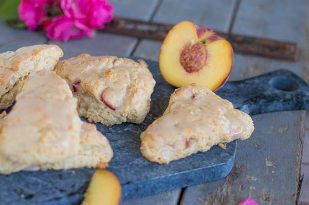 Vanilla Peach Pie Scones