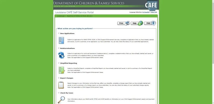 LA CAFE Online Portal