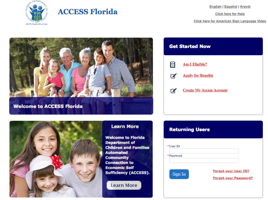 """My Access Florida Account Login"""