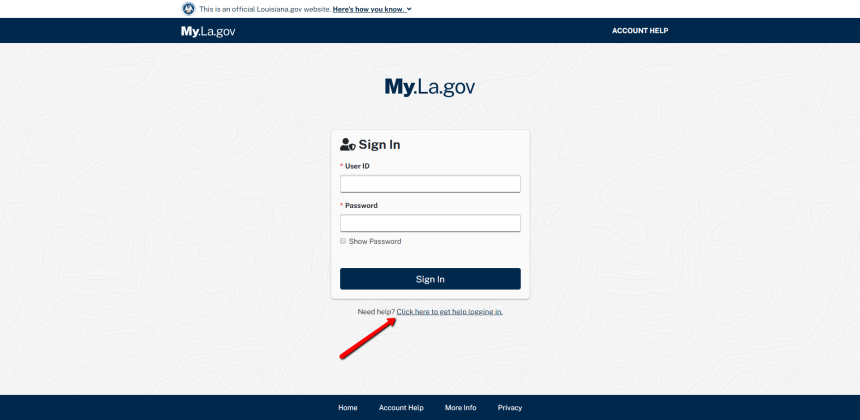 My.la.gov User ID Recovery