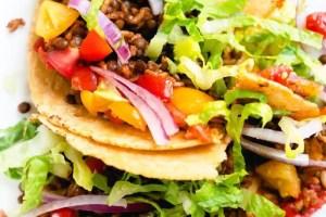 """vegetarian instant pot tacos with lentils"""