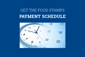 Food Stamps Schedule 2019
