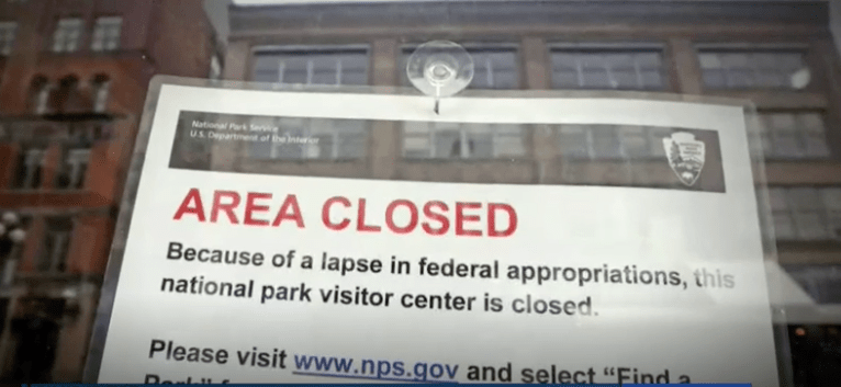 """which government agencies are affected by shutdown?"""