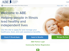 """""""Create Application for Benefits Eligibility (ABE) Account"""""""