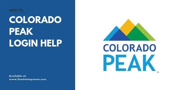 Colorado PEAK login help