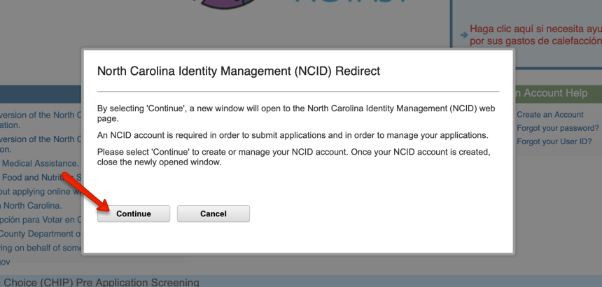 EPass NC Gov Forgot User ID 2