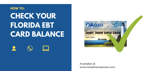How to Check your Florida EBT Card Balance