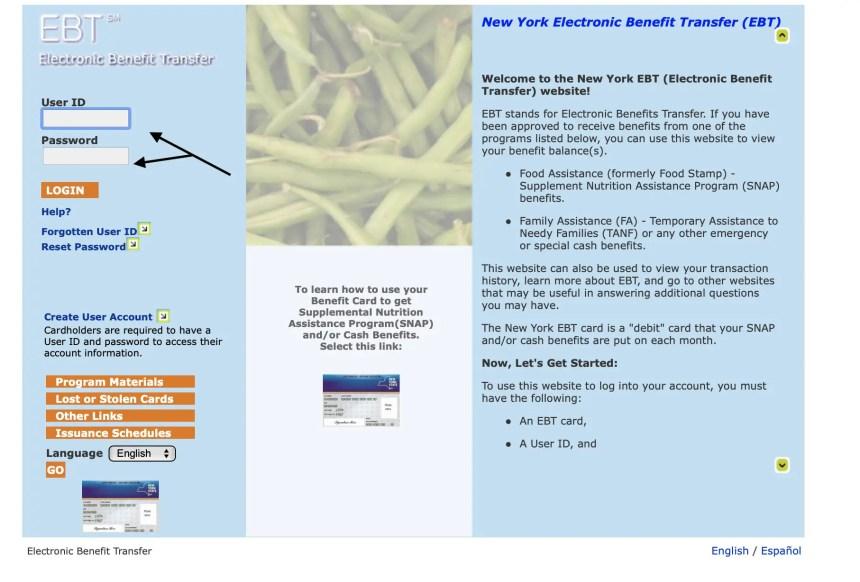 """""""New York EBT Card Balance Online"""""""