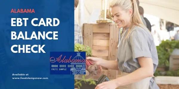 """""""Alabama EBT Card Balance Check"""""""