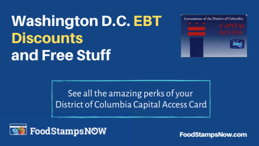 """Washington DC EBT Discounts and Perks"""