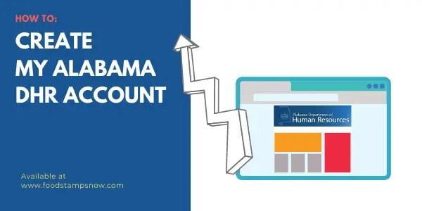 Create My Alabama DHR account