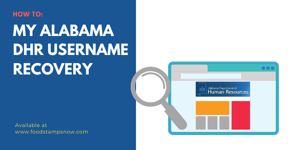 My Alabama DHR Username Recovery