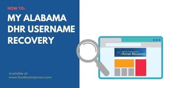My Alabama DHR Username Recovery