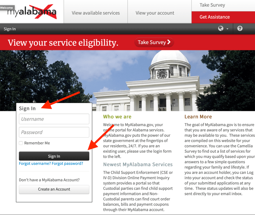My Alabama DHR Login Instructions