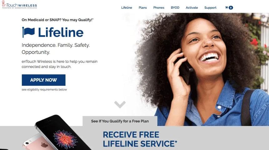 """free lifeline program entouch wireless"""