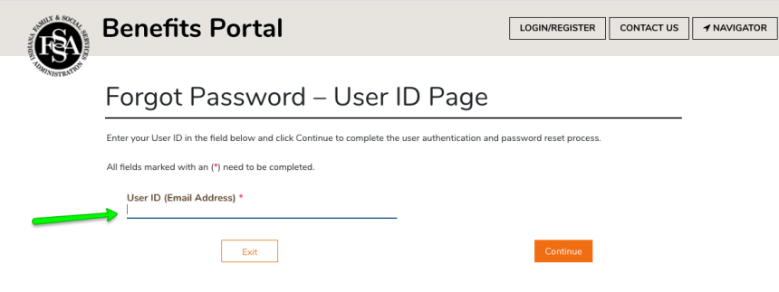 """How to Create FSSA Benefits Portal Login - Forgot password"""