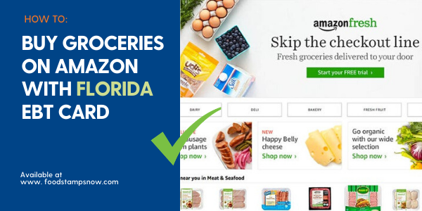 """Buy Groceries online on Amazon with Florida EBT Card"""
