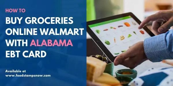 Buy groceries online with Alabama EBT Card