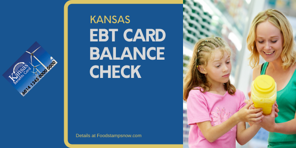 """Check Your Kansas EBT Card Balance"""
