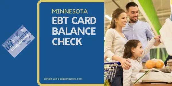 """Check Your Minnesota EBT Card Balance"""