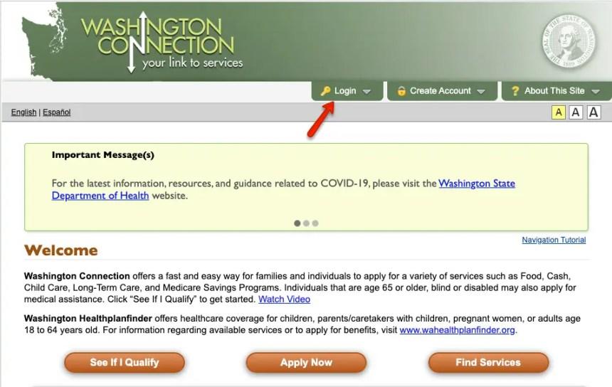 """DSHS Washington Connection Account Login"""