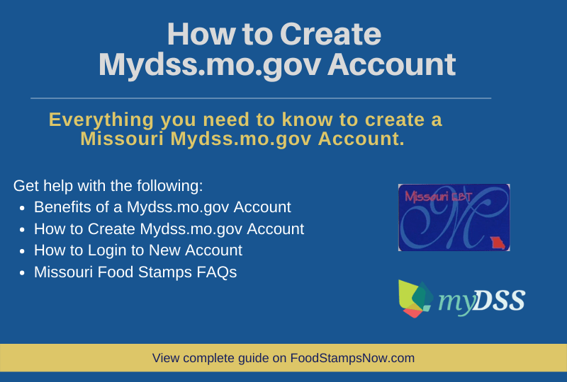 """How to Create Mydss.mo.gov Account"""