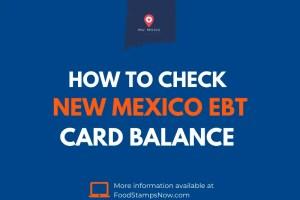 New Mexico EBT Card Balance Check