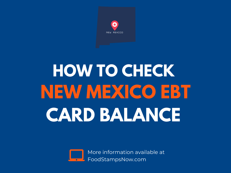 New Mexico EBT Card Balance Check