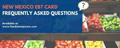 New Mexico EBT FAQs