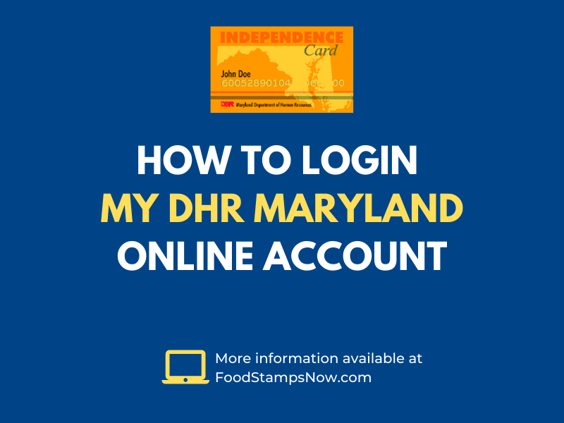 How to login MyDHR Maryland Online Account