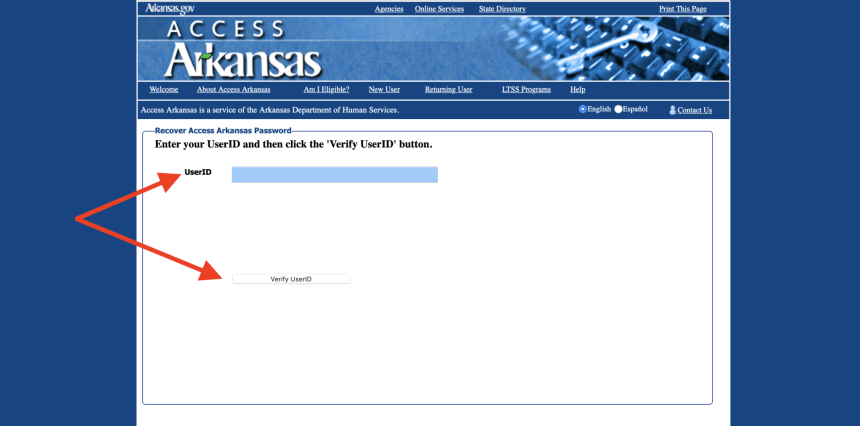 Forgot Access Arkansas Password