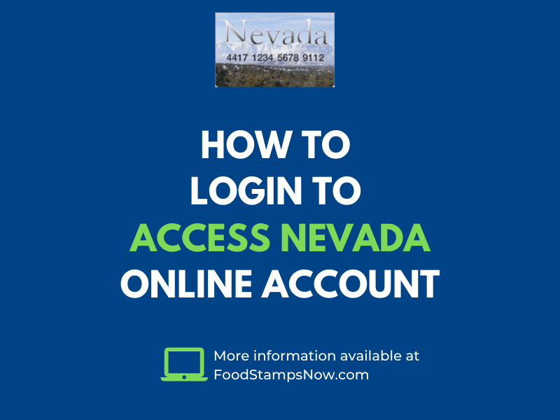 """""""How to login to Access Nevada Online Account"""""""