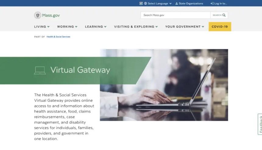 Mass.gov Virtual Gateway website