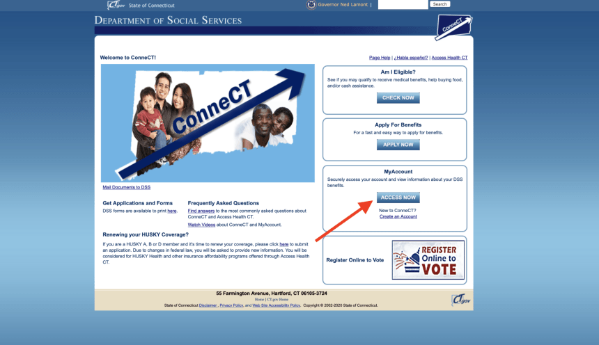 www connect ct gov login