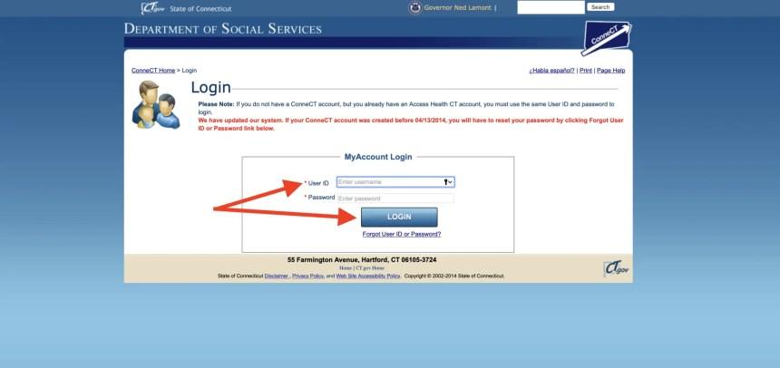 connect ct gov login