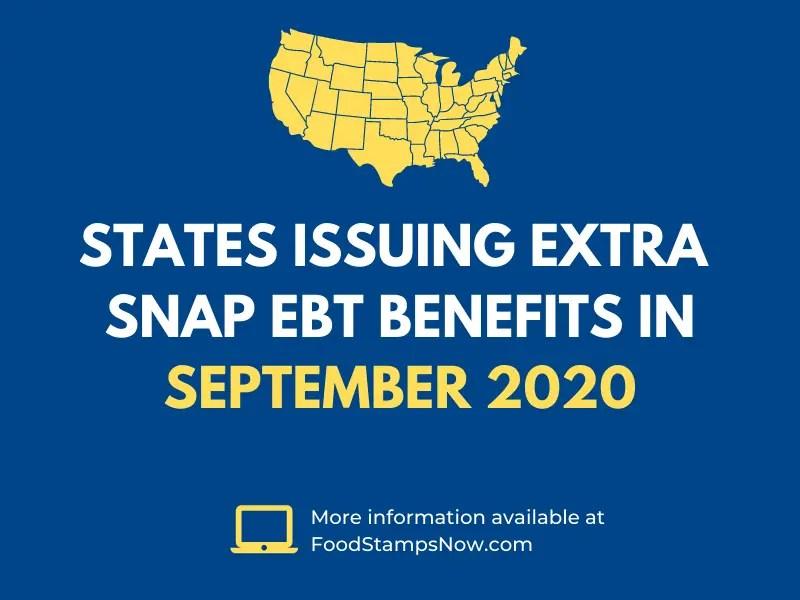 Extra SNAP EBT Benefits in September 2020