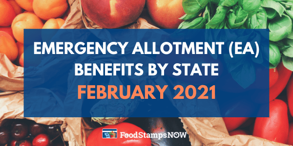 Emergency Allotment Benefits February 2021