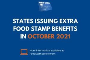 Extra SNAP EBT Benefits in October 2021