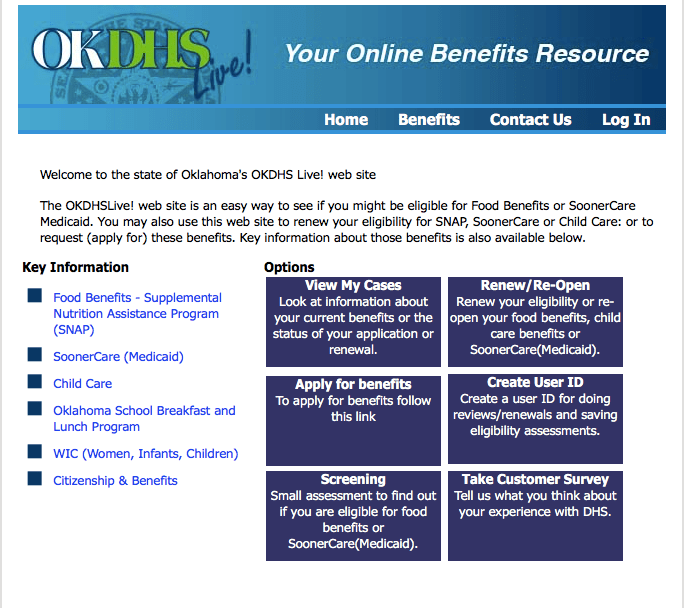 Apply for Food Stamps in Oklahoma Online