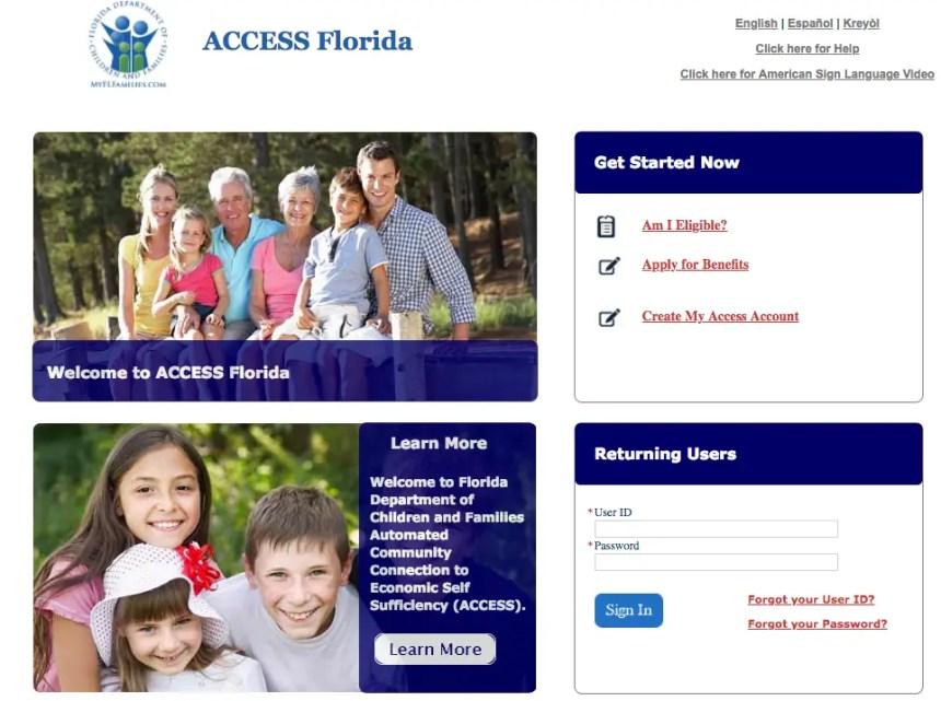 """My Access Florida Account Login"""