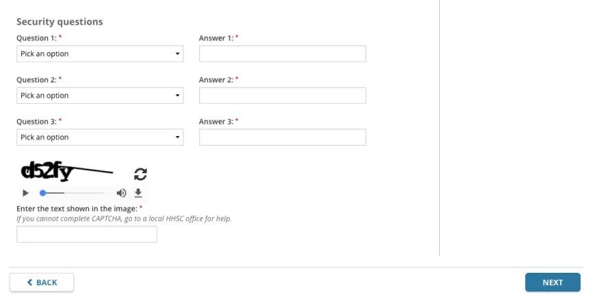 """Yourtexasbenefits.com Create Account 1"""