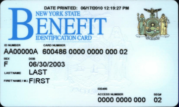 """New York EBT Card"""