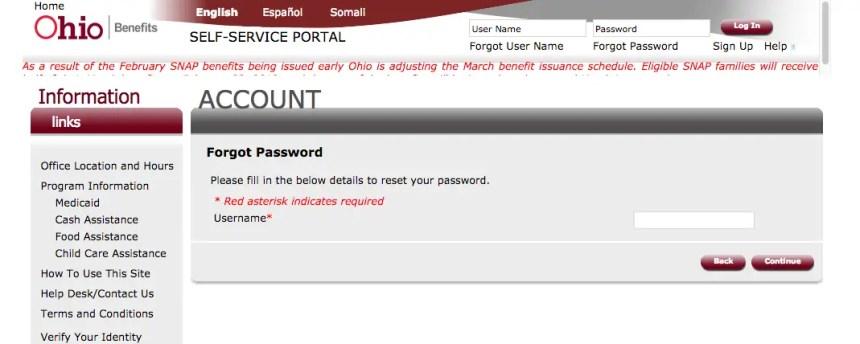 """""""Ohio ssp.benefits.ohio.gov password reset"""""""
