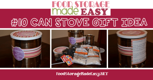 #10 Can Stove Gift Idea