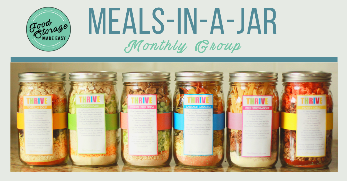 Meals-in-a-Jar Monthly Group