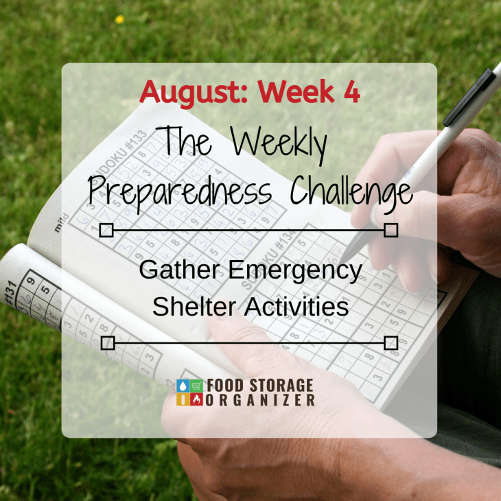 Gather Emergency Shelter Activities • August Prep Challenge #4